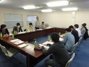 青年委員会を代表して挨拶を行う坂井委員長