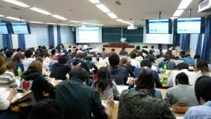 出席いただいた経済学部の学生205名