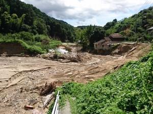 朝倉市杷木地区志波区の河川の被害状況