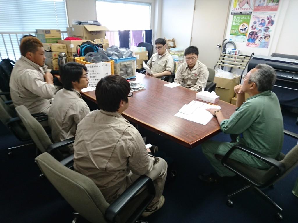 連合佐賀朝倉市への出発前ミーティング