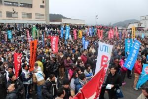 玖珠川河川敷に5100人が集う